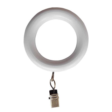 Drapery Ring by Martha Stewart Living 1 3 8 In Wood Clip Rings In White