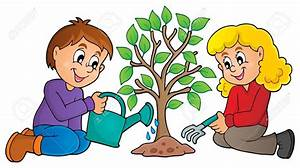 Plant clipart kid plant - Pencil and in color plant ...