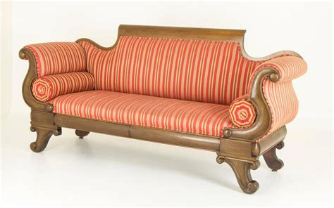 Settee Sofa For Sale by Antique Mahogany Scroll Arm Sofa Or Settee For