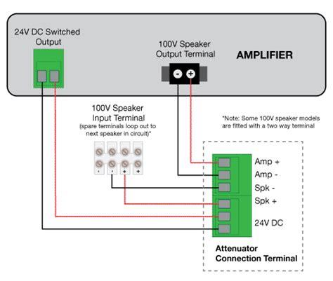Wiring Diagram Line by 100v Line Attenuators Redback Audio