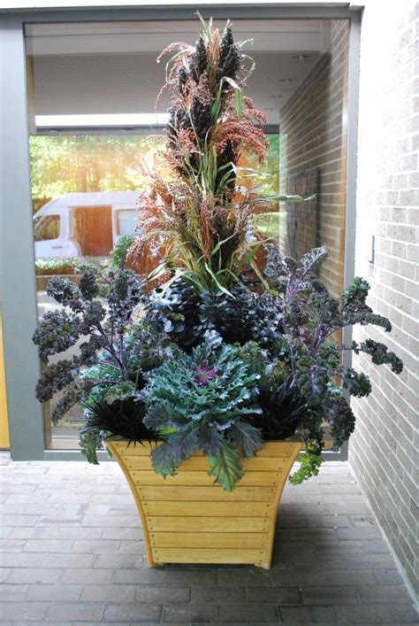 Fall Container Arrangement Garden Pinterest