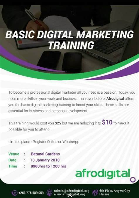 Digital Marketing Qualifications by Basic Digital Marketing Afrodigital