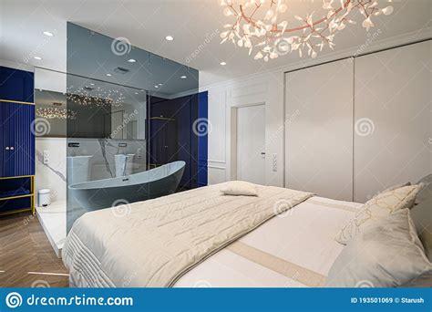 big comfortable bed in classic bedroom