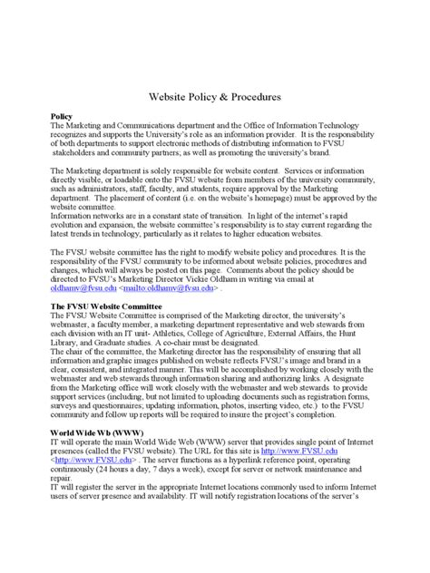 policies  procedures template fillable