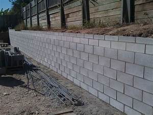 precast concrete block retaining wall baiseyvetot for With building a garden wall with concrete blocks