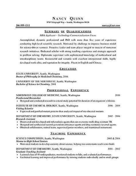 Graduate Resume by Graduate Student Resume Exle Sle