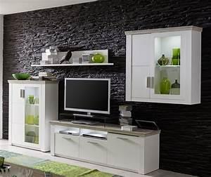 Meuble Salon Blanc : meuble salon tv meuble tv design suspendu salon tele ~ Dode.kayakingforconservation.com Idées de Décoration