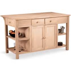 kitchen island unfinished kitchen carts kitchen islands work tables and butcher blocks with styles finishes
