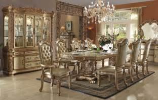 formal dining room sets vendome gold formal dining table set
