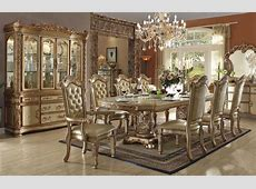 Vendome Gold Formal Dining Table Set