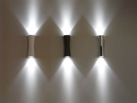 led wall lights indoor clessidra 40 wall light led indoor outdoor