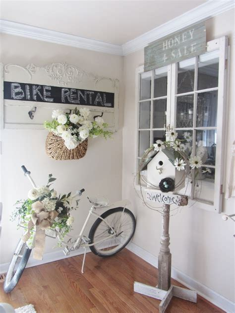 shabby chic accents bike rental outside shabby chic rustic french country decor idea front porch decor pinterest
