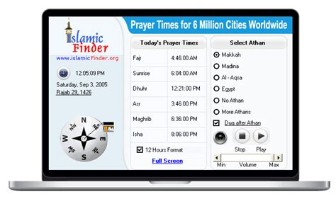 islamicfinder accurate prayer times athan azan mosques masjids