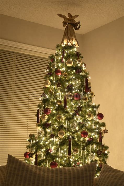 victorian christmas tree stock photo image  december