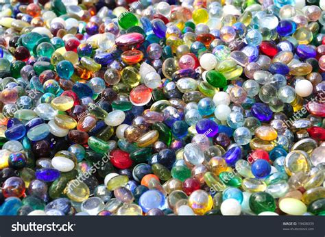 colored marbles pile colored marbles glass stones use stock photo 19408039
