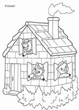 Pigs Coloring Three Pages Printable Disney Colouring Recess Sheets Hellokids Case Brick sketch template
