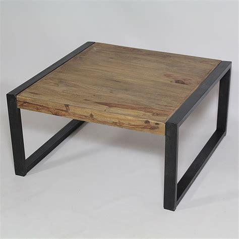 specialiste canape table basse industrielle carrée en bois de palissandre