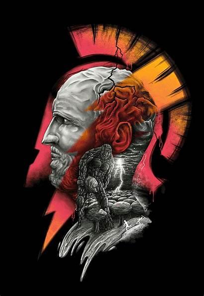 Zeus Titans Behance Drawing