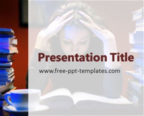 top free powerpoint presentation templates used by students stress on students ppt template free powerpoint templates