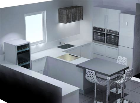 cuisine central montpellier ilot central avec coin repas 5 etude cuisine