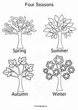 Seasons Four Activities Coloring Tree Pages Printable Winter Colouring Sheets Grade Eu Colors Booklet sketch template