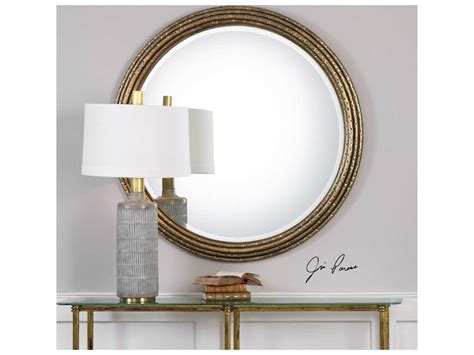 Uttermost Spera Antique Gold 42''round Wall Mirror
