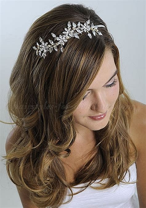 long wedding hairstyles   hair down wedding hairstyle with