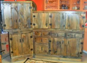 rustic kitchen furniture made rustic kitchen cabinets by the bunk house custommade