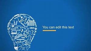 Creative Blue Background Slide Design with Light Bulb ...