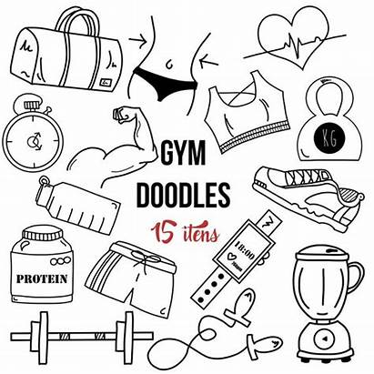 Doodles Fitness Clipart Workout