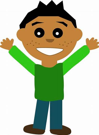 Clipart Person Happy Boy Guy Excited Transparent