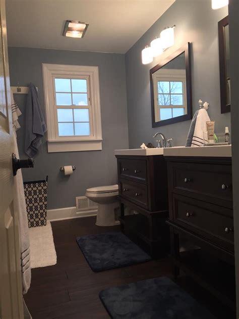 bathroom diy vanity gray wall paints wall