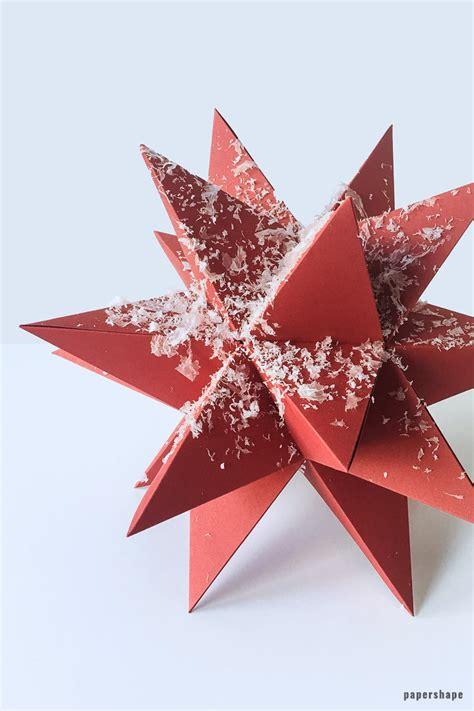 sterne basteln zu weihnachten schne origami sterne falten diy
