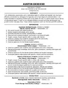 sport coach resume templates athletes and sports competitors resume exles sports resumes livecareer