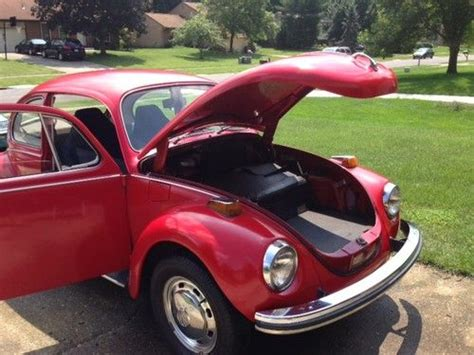 purchase   volkswagen red classic super beetle