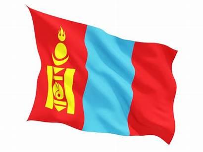 Flag Mongolia Fluttering Illustration Iv Thread Non