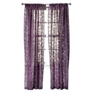 threshold botanical burnout sheer curtain panel purple