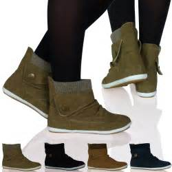 womens ankle boots flat uk womens flat ankle boots booties sock rubber sole shoe size ebay