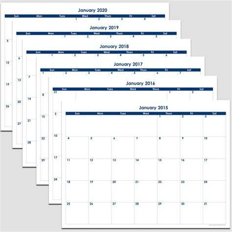 month calendar legacy templates