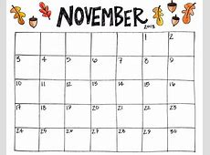Free Printable November 2018 Calendar Canada PDF Template