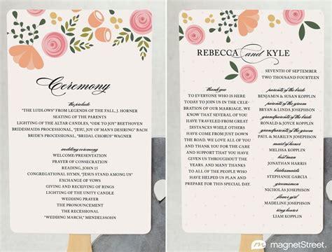modern wedding program templates  wording modern