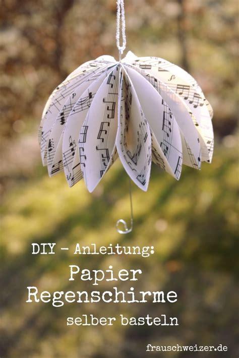 diy anleitung papier regenschirme selbermachen handmade