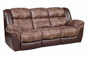 Fenway microfiber reclining sofa for Microfiber reclining sofa