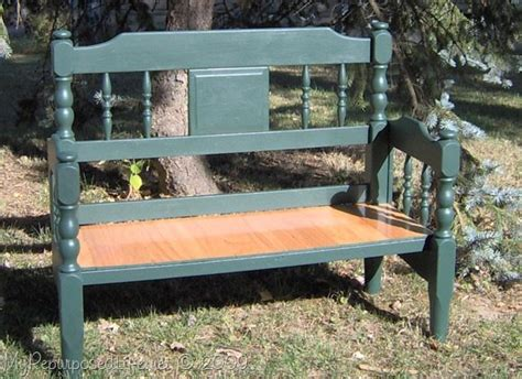 Make A Bench Out Of A Headboard And Footboard by Easy Headboard Bench My Repurposed