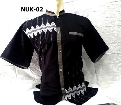 8 warna baju koko lengan pendek nuriska terbaru 2017 busanamuslimpria
