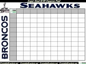 Game Bracket Template Super Bowl Squares Rules Super Bowl Squares Template