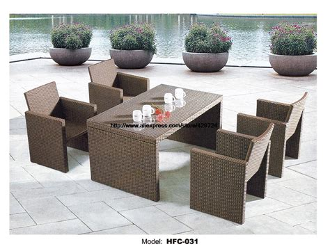 small garden table chair set 130cm table 4 chairs rattan