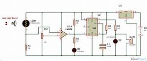 Laser Security Alarm Circuit Diagram