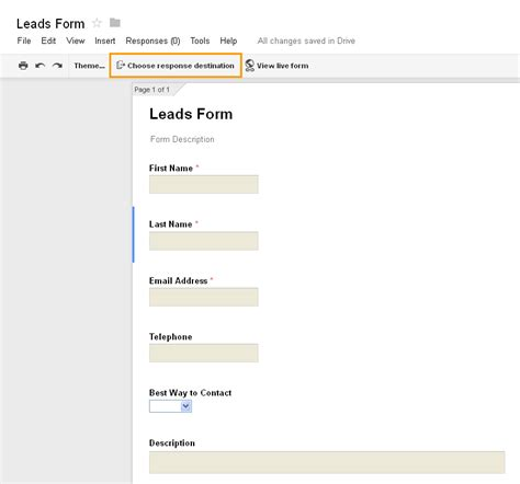create sales leads from google forms apptivo