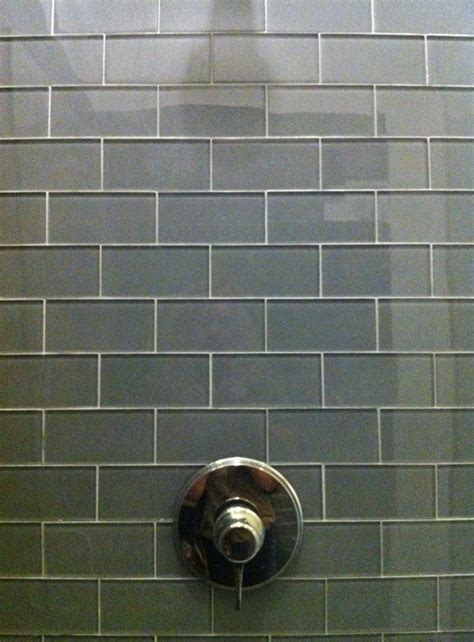 akdo glass subway tile akdo 3x6 gray glass tile on shower walls tile we ve